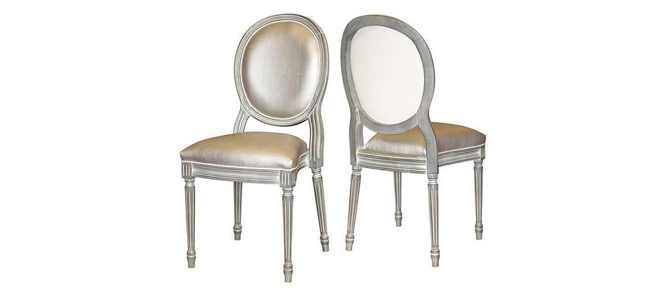 Sillas para la hosteler a silla 152 plateada for Sillas de comedor clasicas tapizadas