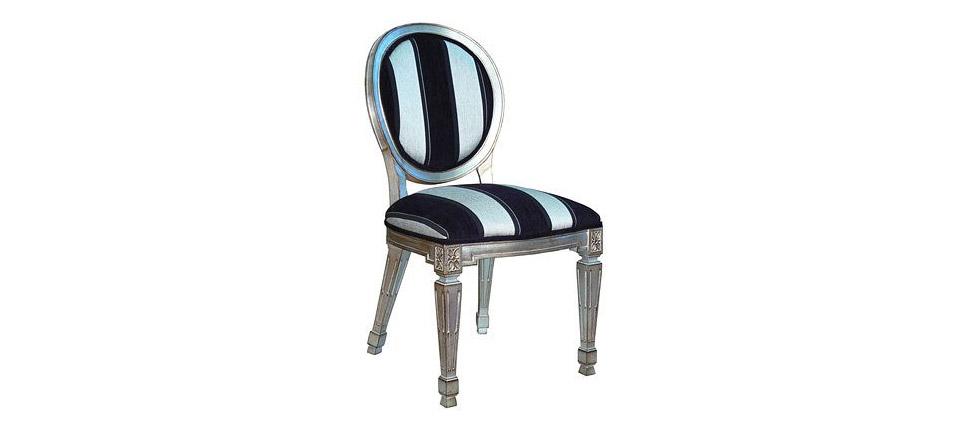 Sillas para la hosteler a silla 503 rayas negras y blancas for Sillas de diseno clasicas