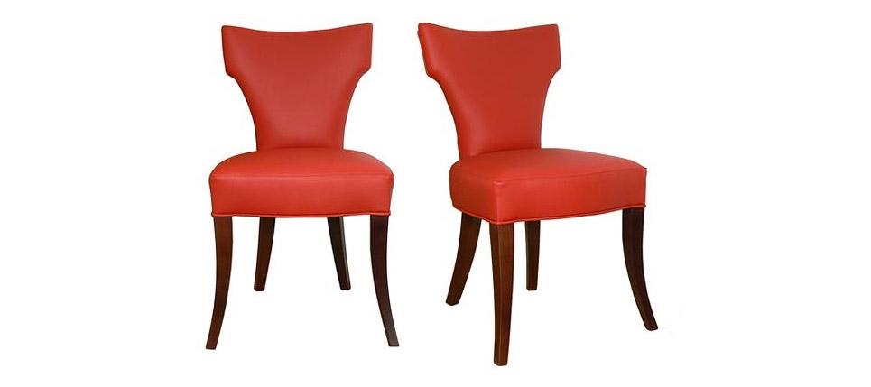 Sillas para restaurantes silla 059 tapizada en piel roja for Sillas contemporaneas