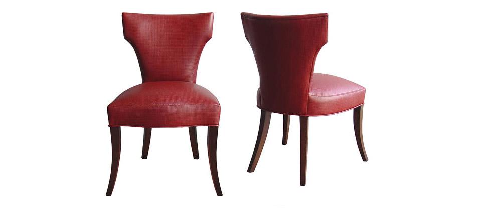 Sillas para restaurantes silla 059 tapizada en piel roja - Silla de restaurante ...