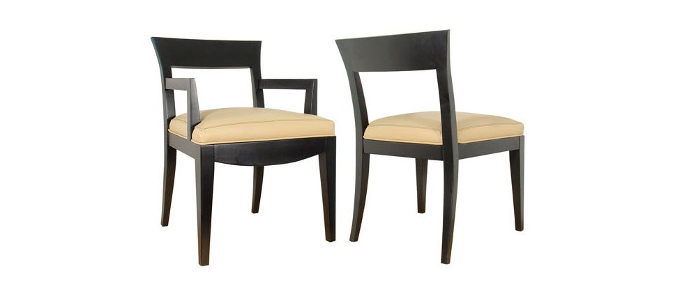 Sillas para la hosteler a silla 239 piel beige for Sillas contemporaneas