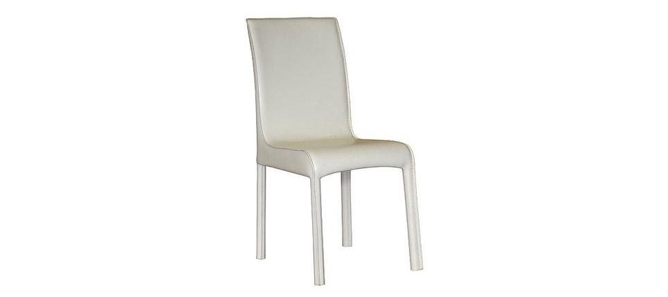 Sillas para la hosteler a silla 697 piel blanca for Sillas de piel blancas