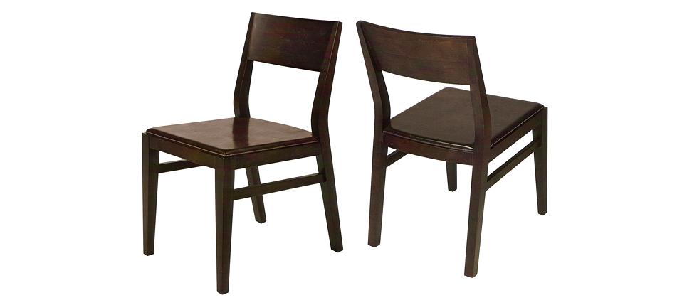 Sillas para la hosteler a silla 723 piel marr n for Sillas piel marron chocolate