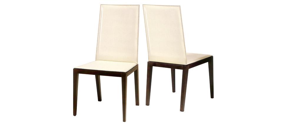 Sillas para la hosteler a silla 726 piel blanca for Sillas de piel blancas