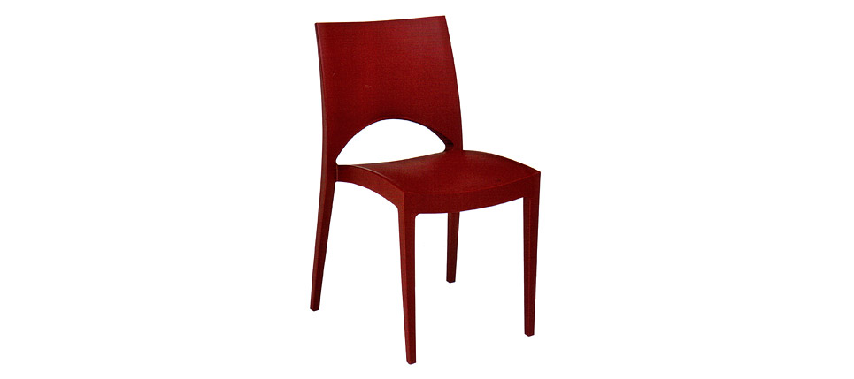 Sillas para la hosteler a silla 729 roja for Sillas contemporaneas