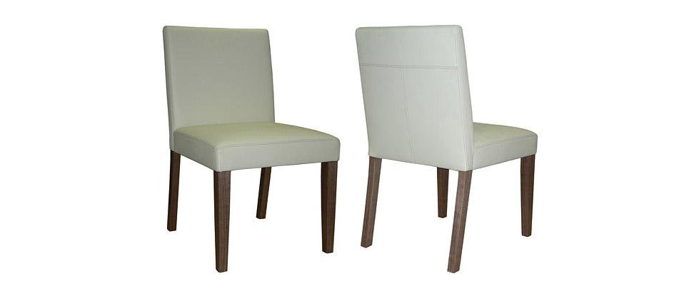 Sillas para la hosteler a silla 580 piel blanca for Sillas de piel blancas